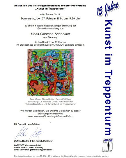 Ausstellung im Karstadt, Bamberg